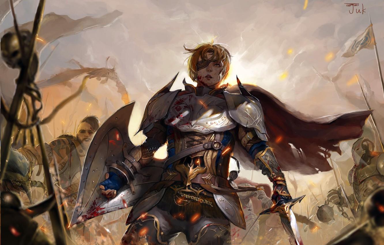 Fantasy Shield And Sword Art