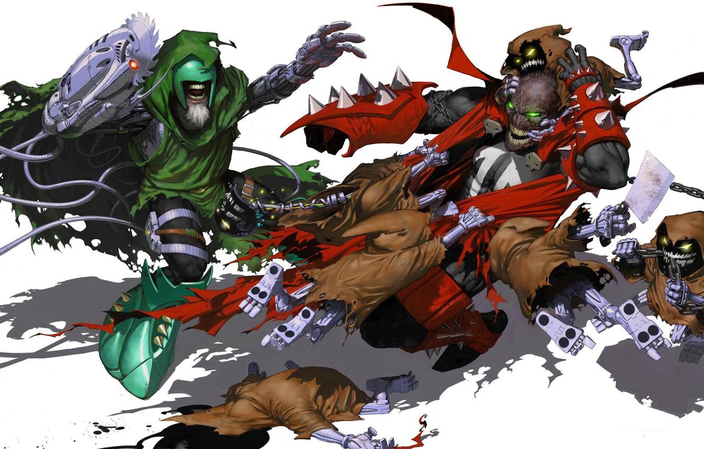 Photo wallpaper cloak, comics, Spawn, spawn