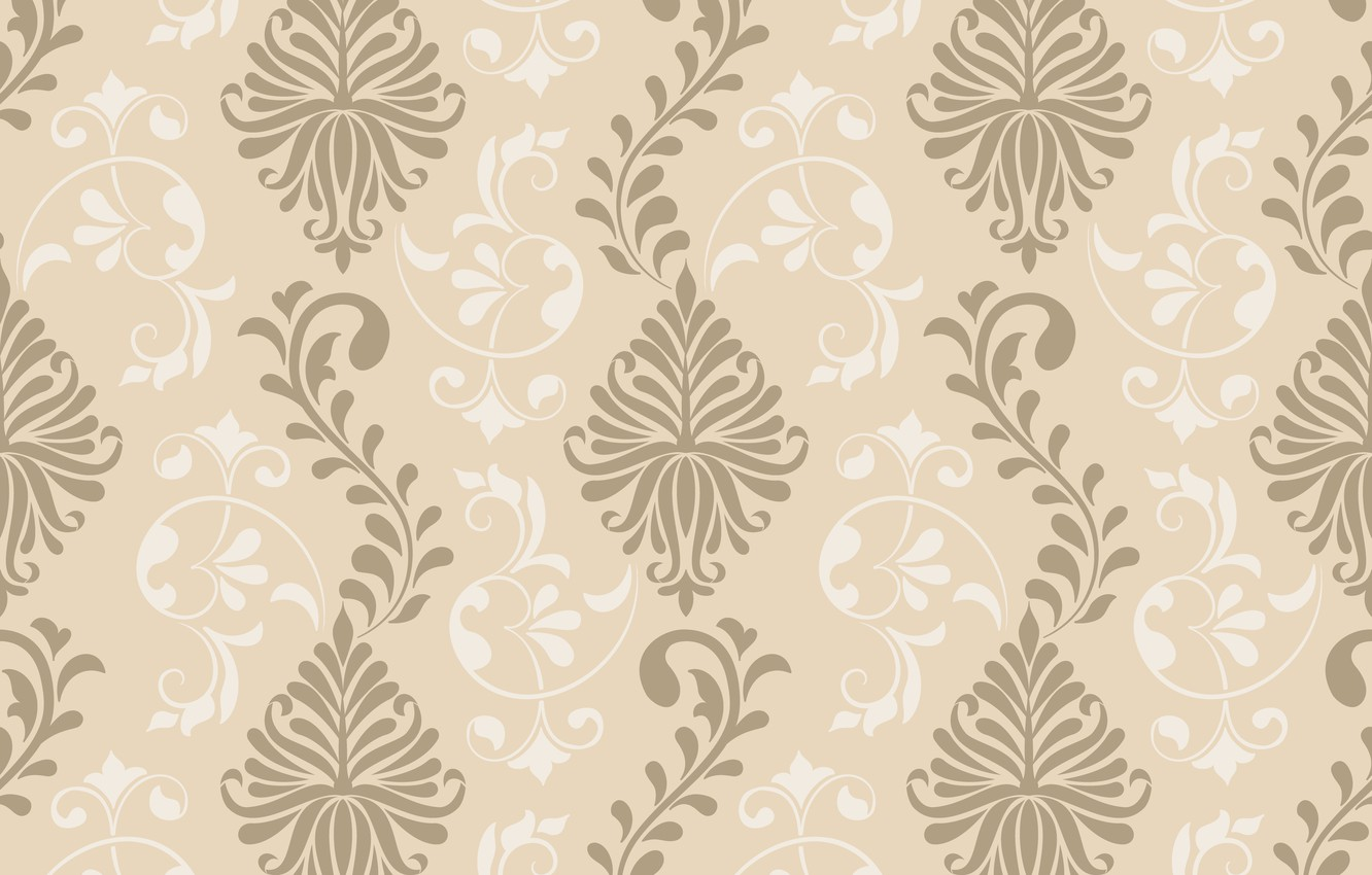 Photo wallpaper flowers, ornament, vintage, design, texture, background, pattern, graphic, ornament, floral, seamless, damask