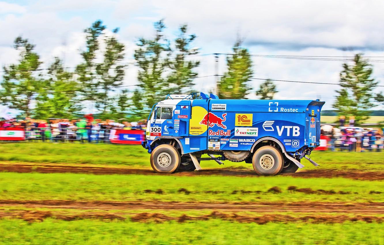 Photo wallpaper Grass, Sport, Speed, Race, Master, Russia, Kamaz, Rally, Rally, KAMAZ, Master, Silk road, Silk Way, …