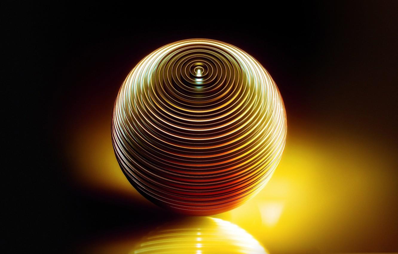 Photo wallpaper reflection, ball, the volume