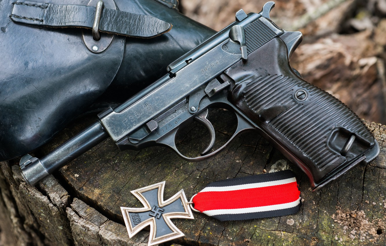 Wallpaper Holster Ac41 Iron Cross Walther P38 Images For