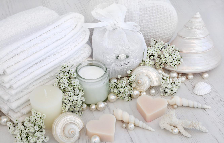 Обои salt, Spa, soap, towel, bath, candle. Разное foto 18