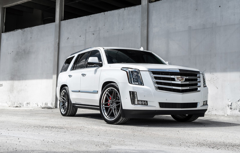 Photo wallpaper Cadillac, Escalade, White, Brutal, ESV