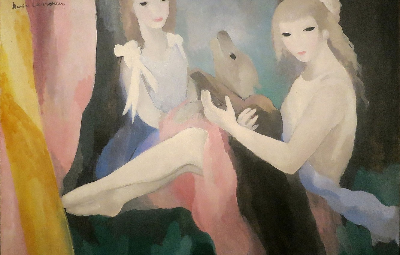 Photo wallpaper Modern, Marie Laurencin, Girls with dog