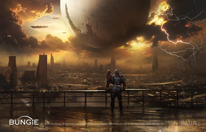 Photo wallpaper the city, ball, Destiny 2 Cinematics Paintings Bundle
