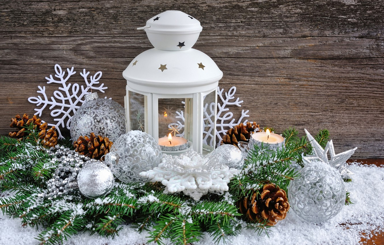 Photo wallpaper ball, spruce, candles, Christmas, flashlight, New year, bump, Christmas, decoration, decoration