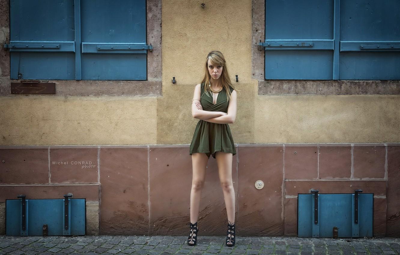 Photo wallpaper girl, pose, Marjorie