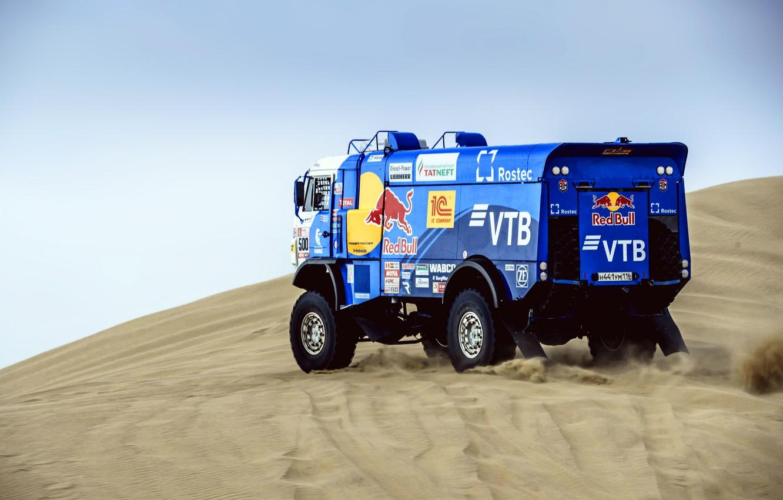 Photo wallpaper Sand, Sport, Speed, Race, Master, Russia, 500, Kamaz, Rally, Dakar, KAMAZ-master, Dakar, Rally, KAMAZ, The …
