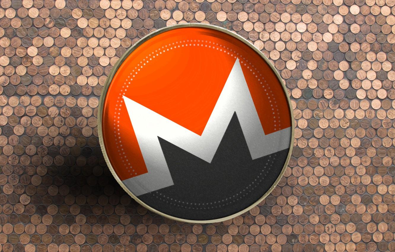 Photo wallpaper logo, currency, coin, Monero, monero, xmr