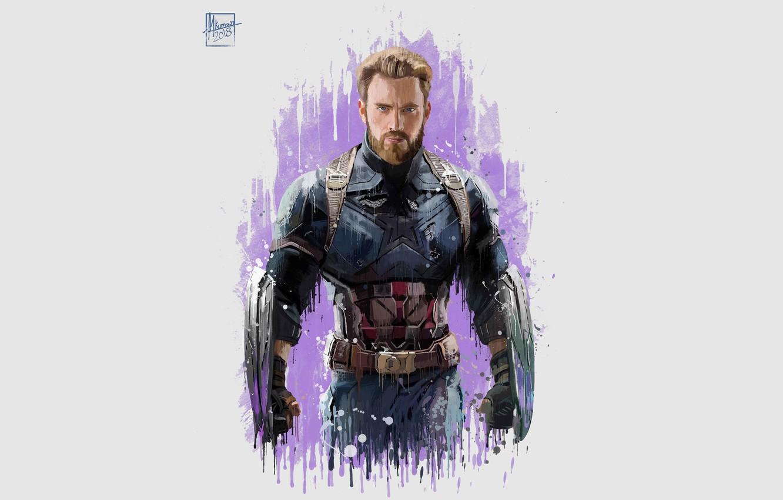 Photo wallpaper Figure, Costume, Actor, Hero, Movie, Beard, Superhero, Hero, The film, Fiction, Marvel, Captain America, Captain …