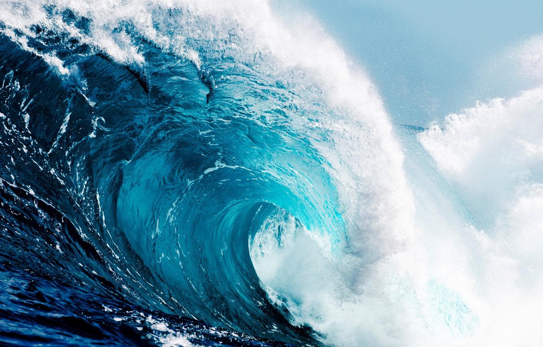 Photo wallpaper the ocean, wave, wave