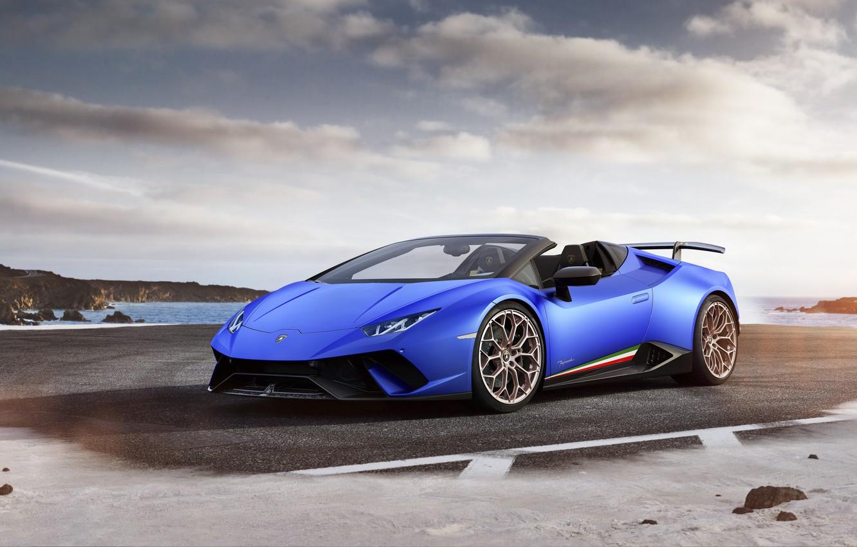 Photo wallpaper Lamborghini, supercar, convertible, Lamborghini, Performante, Huracan, hurakan
