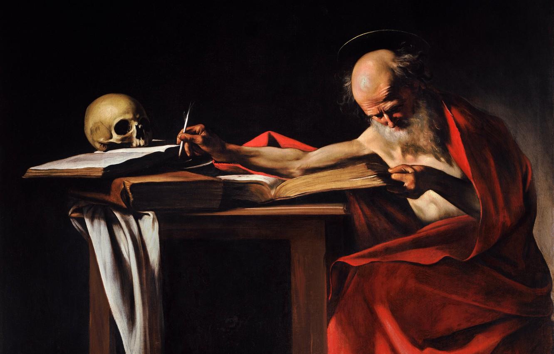 Photo wallpaper picture, Caravaggio, mythology, Saint Jerome, Michelangelo Merisi da Caravaggio