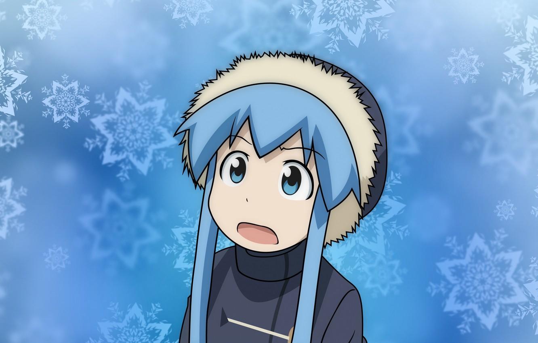 Photo wallpaper winter, Shinryaku! Ika Musume, Ika Musume