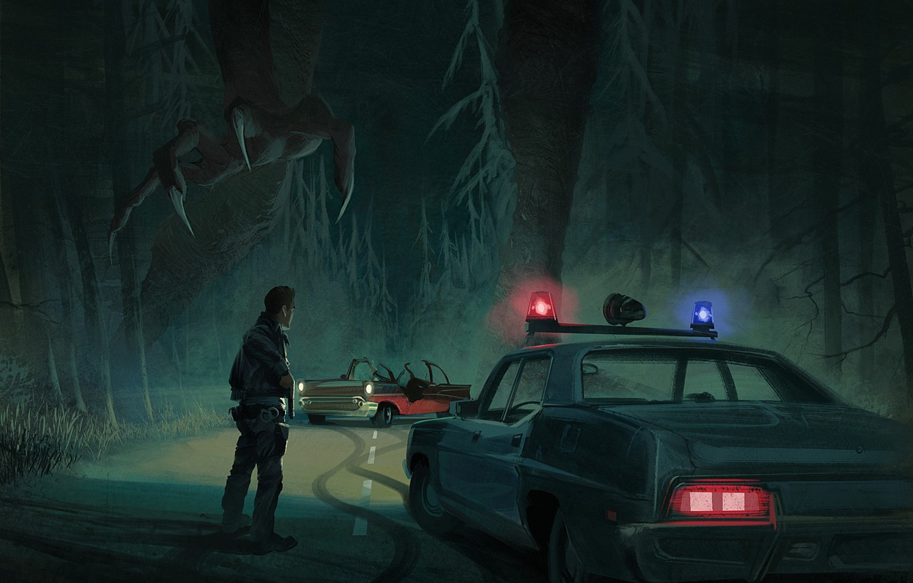 Photo wallpaper Art, Police, Forest