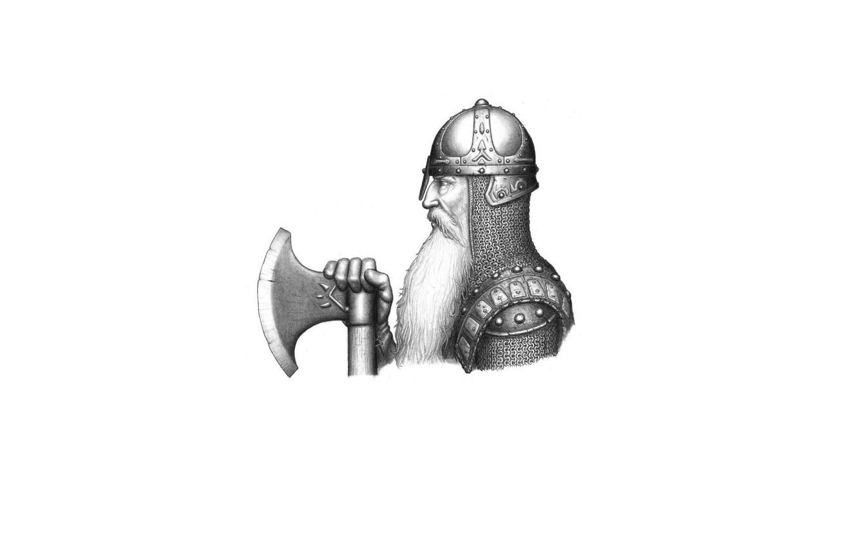 Photo wallpaper face, armor, warrior, helmet, profile, beard, axe, mail