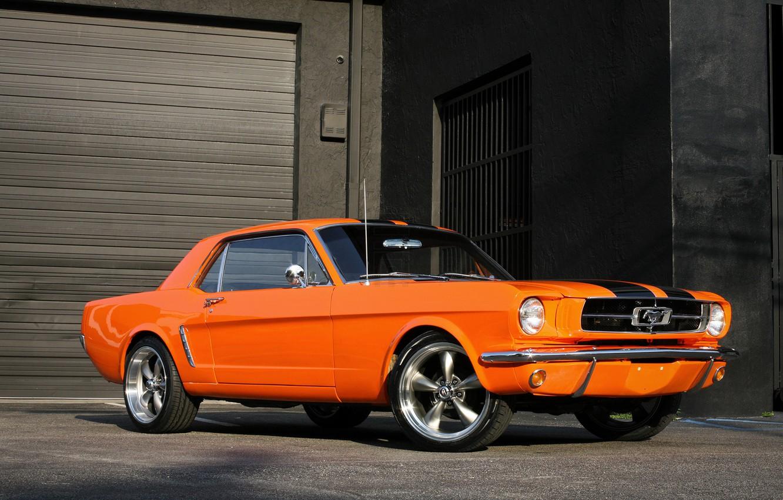 Photo wallpaper Mustang, Ford, Orange, 1965