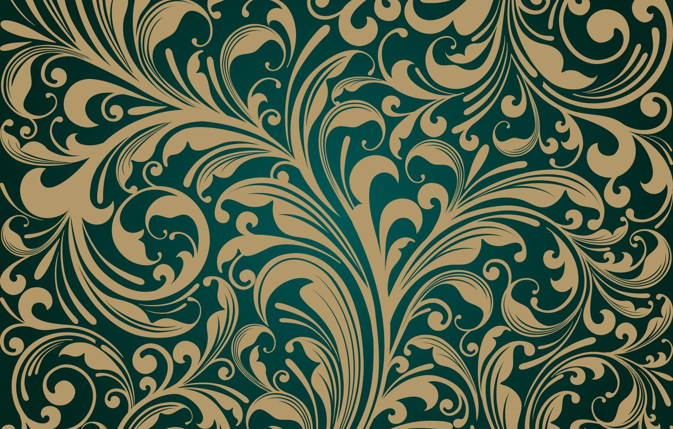 Wallpaper Retro Wallpaper Vector Design Vintage Pattern