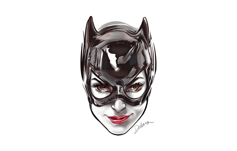 Photo wallpaper fantasy, Batman, minimalism, blue eyes, comics, face, digital art, artwork, mask, superhero, fantasy art, DC …