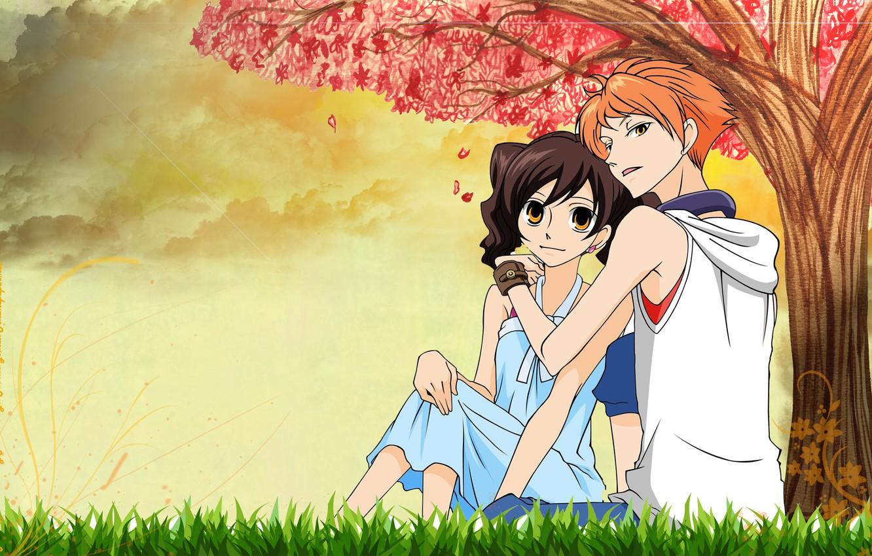 Wallpaper Anime Art Pair Two Ouran High School Host Club