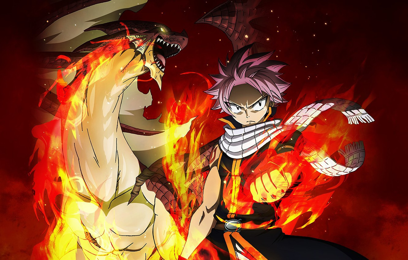 Wallpaper Game Anime Dragon Spark Natsu Dragneel Fairy Tail