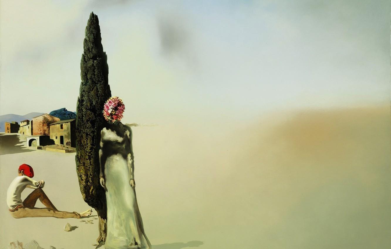 Photo wallpaper surrealism, picture, Salvador Dali, Salvador Dali, Necrophiliac Spring