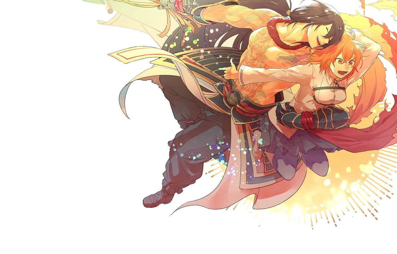 Photo wallpaper anime, art, two, fate/grand order, fujimaru ritsuka