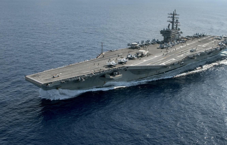 Wallpaper Army Navy Aircraft Carrier Uss Ronald Reagan