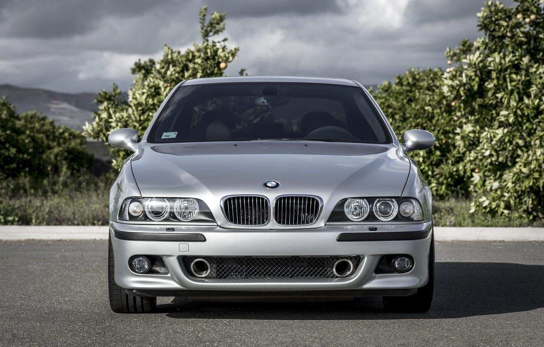 Photo wallpaper BMW, Classic, Legend, E39, Silver