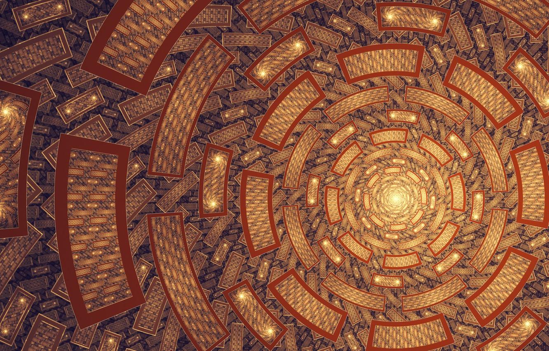 Photo wallpaper texture, art, Sun, fractal, Tatyana Zabanova