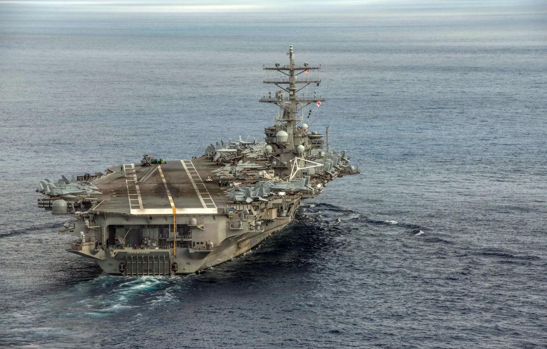 Photo wallpaper weapons, army, Navy, USS Ronald Reagan (CVN 76)