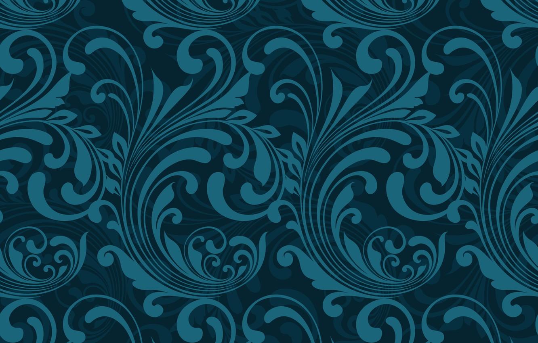 Photo wallpaper Blue, Abstract, design, pattern, Wallpaper, pattern-1