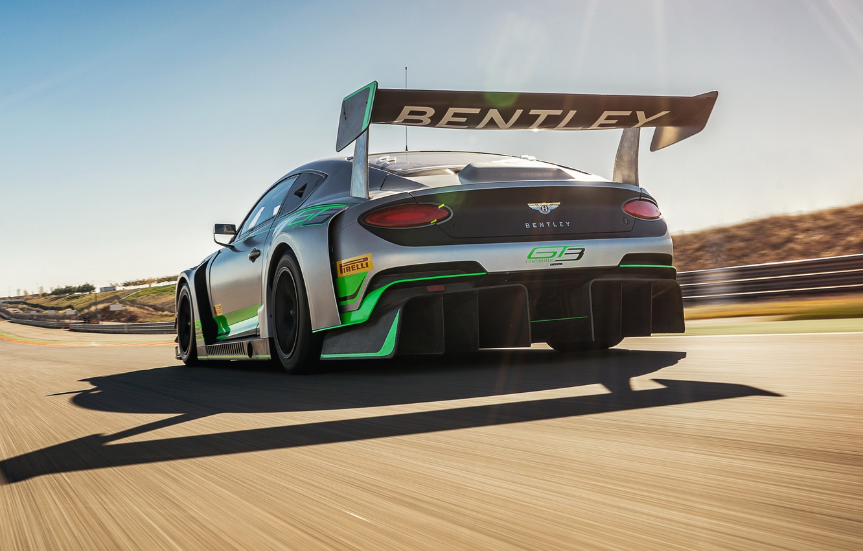 Photo wallpaper Bentley, Continental, racing car, rear view, GT3, 2018