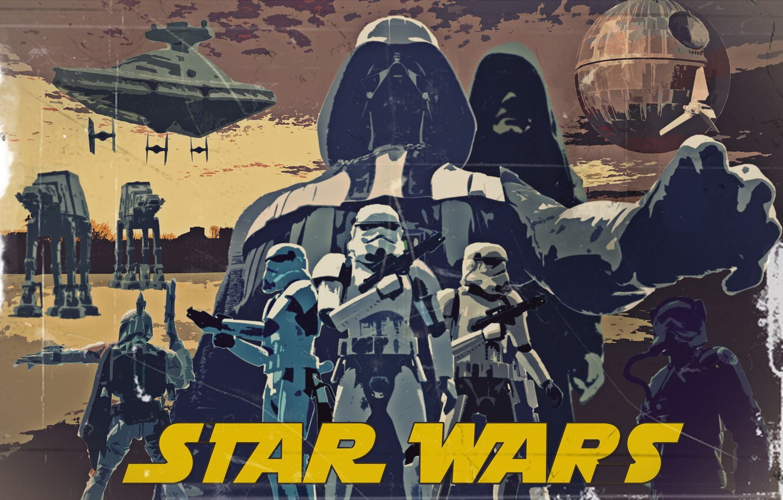 Photo wallpaper Star Wars, star wars, poster