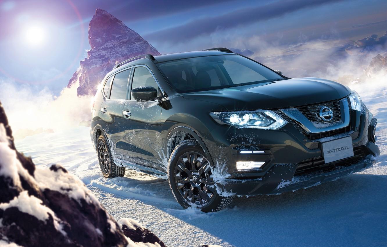 Photo wallpaper winter, SUV, Nissan, X-Trail