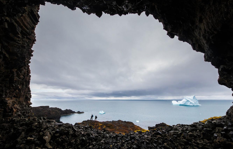 Photo wallpaper sea, rocks, shore