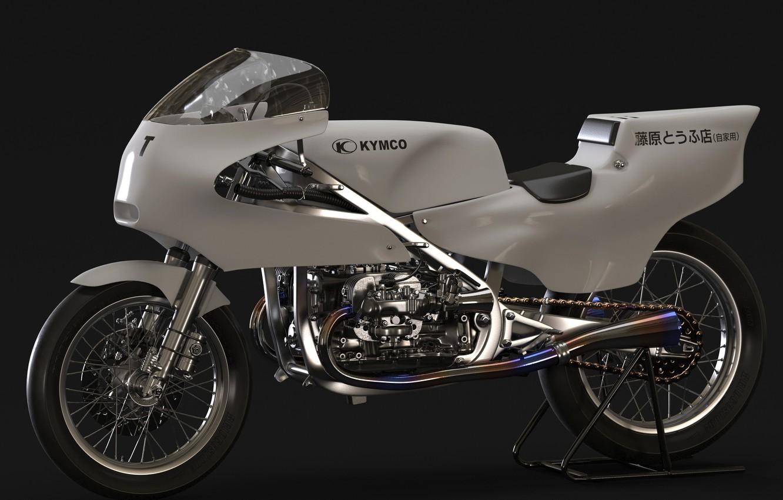 Photo wallpaper design, motorcycle, Kymco