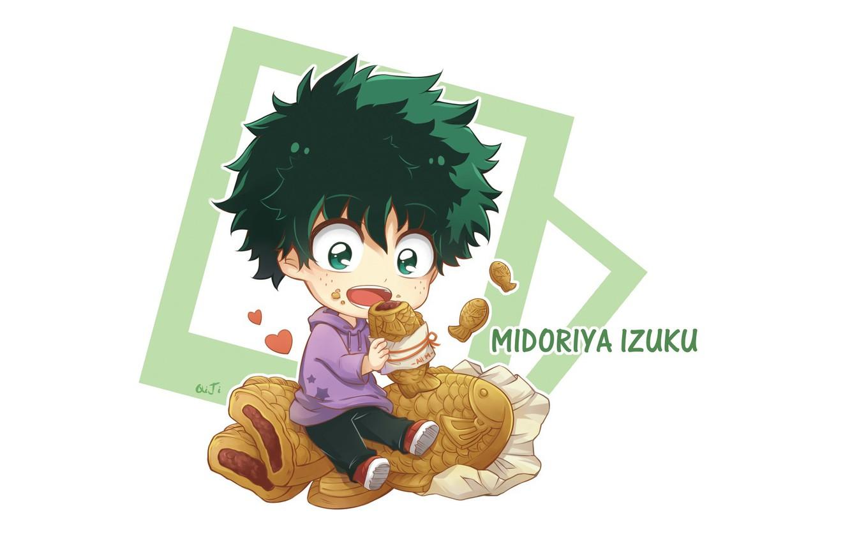 Photo wallpaper food, anime, baby, art, Boku no Hero Academy, Izuku Midoriya