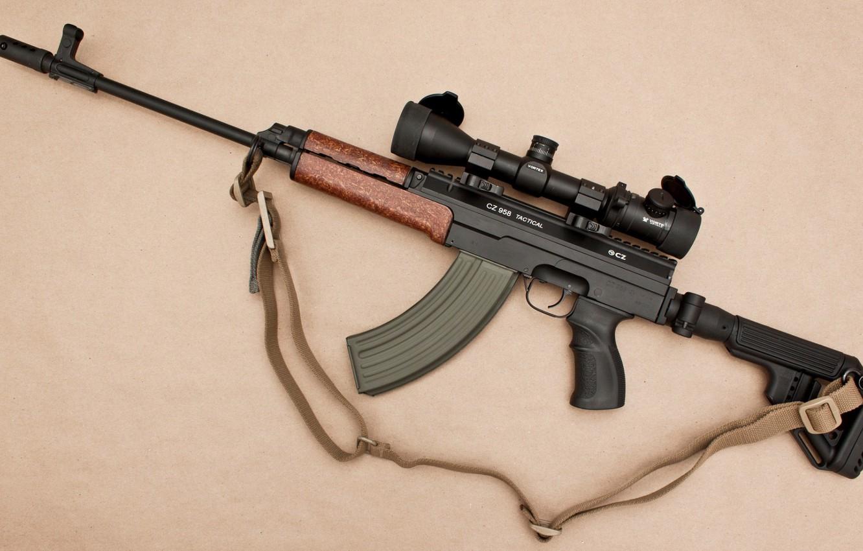 Photo wallpaper weapons, machine, sight, weapon, custom, muffler, custom, VZ 58, assaul rifle, VZ 58