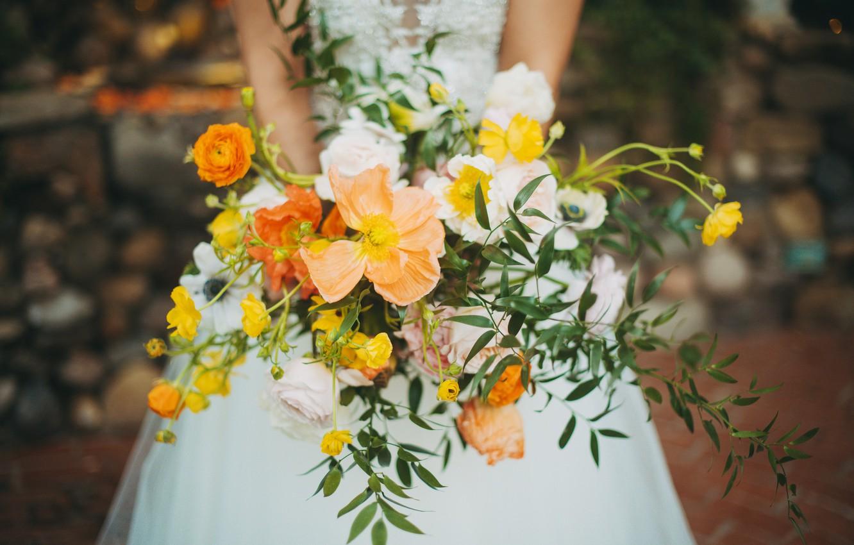 Photo wallpaper flowers, bouquet, wedding