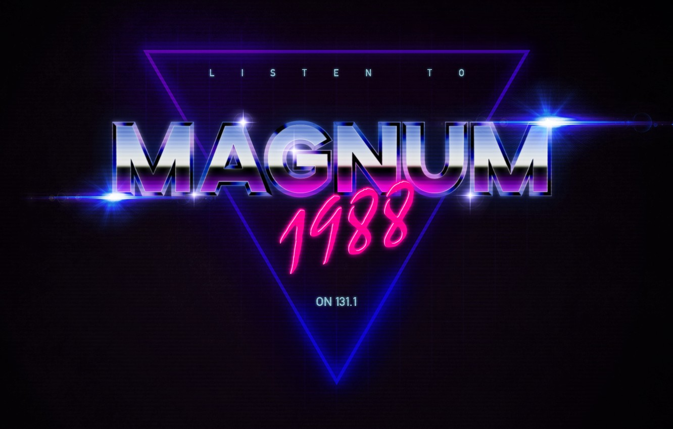 Photo wallpaper Neon, Background, Magnum, 1988, Synthpop, Darkwave, Synth, Retrowave, Synth-pop, Synthwave, Synth pop, Magnum 1988