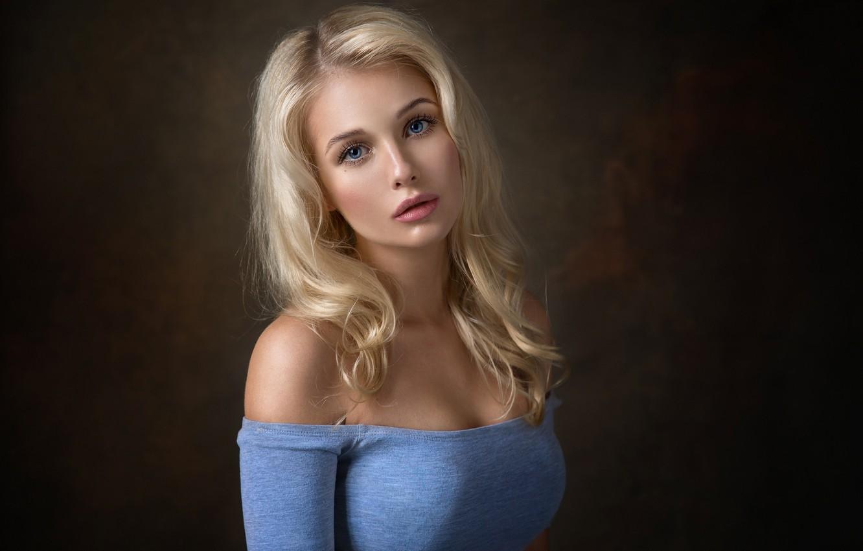 Photo wallpaper eyes, look, girl, portrait, blonde, photographer, Christina, Dennis Drozhzhin, Denis Drozhzhin