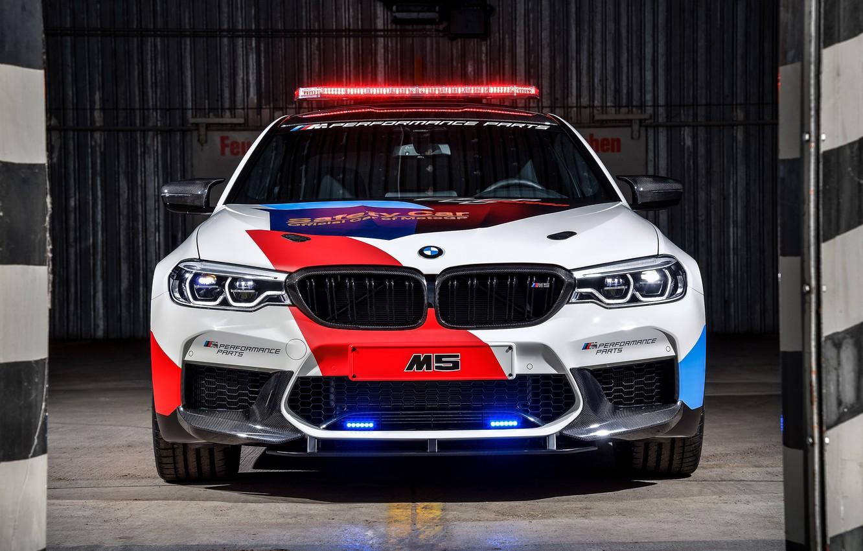 Photo wallpaper MotoGP, flashers, Safety Car, BMW M5