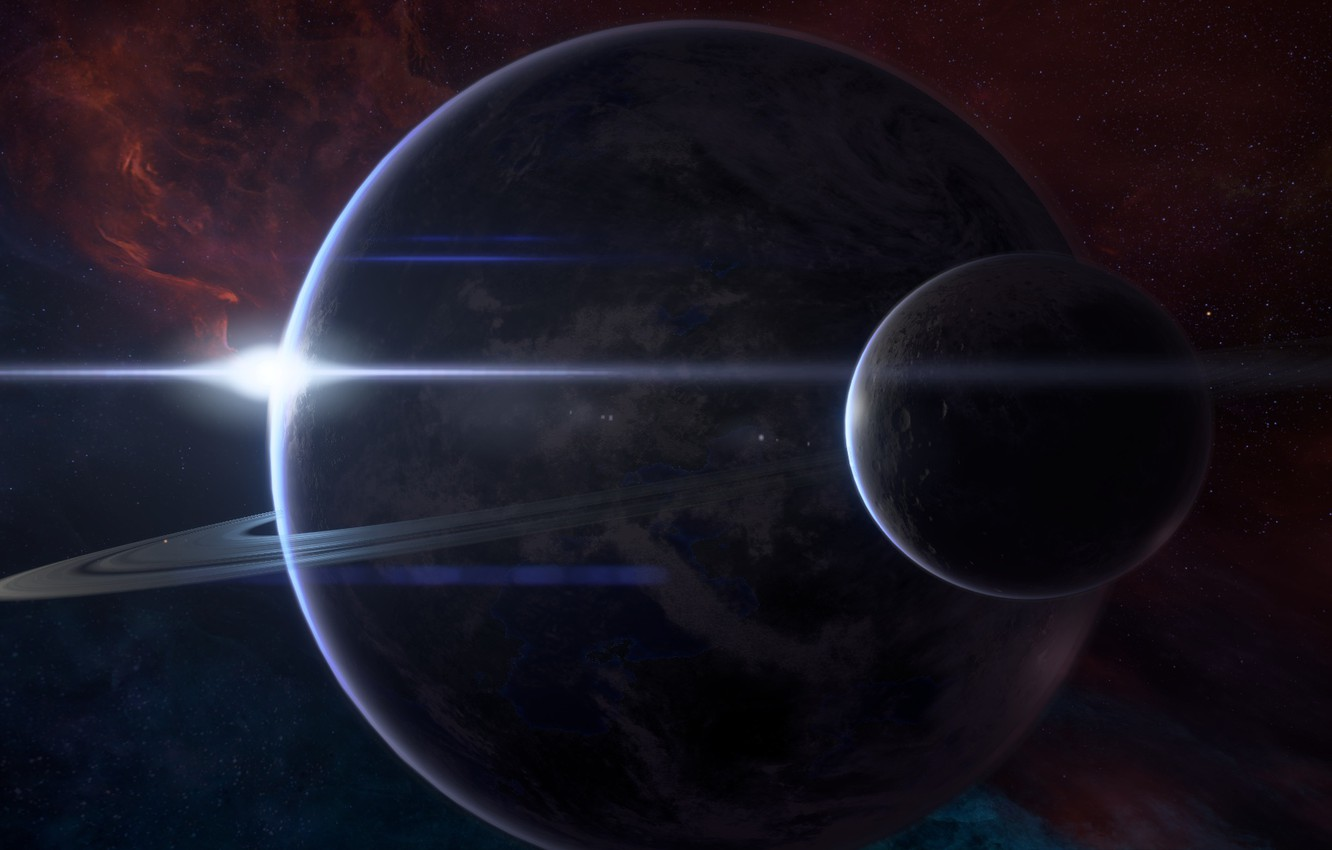 Photo wallpaper Space, Planet, Mass Effect Andromeda