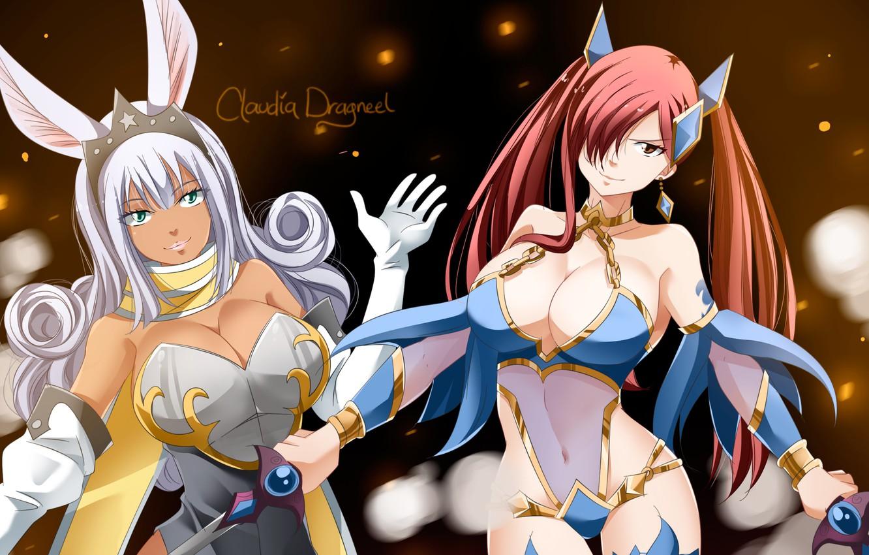 Photo wallpaper big, rabbit, anime, bunny, large, giant, manga, Fairy Tail, oppai, sugoi, prety, Swan, tatto, huge, …