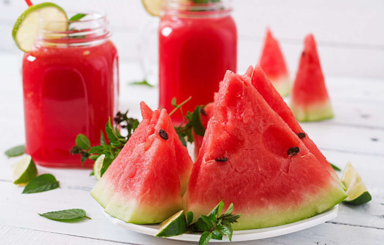 Photo wallpaper watermelon, berry, Drink