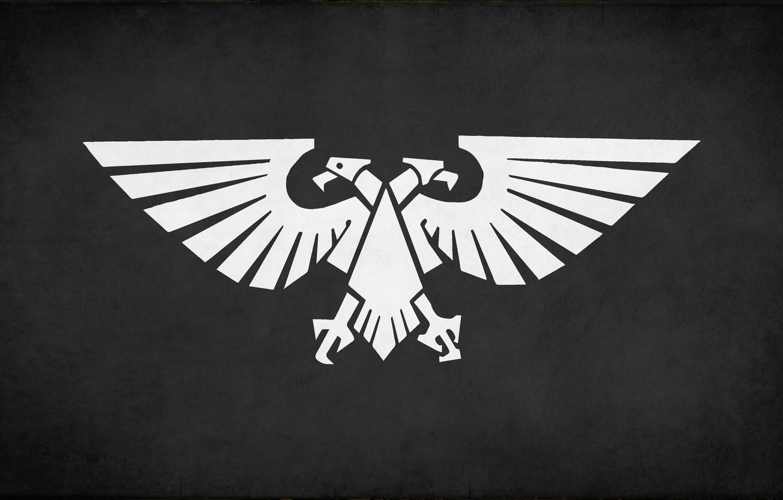 Wallpaper White Black Eagle Fon Desktop Wallpapers Imperium Of Mankind Warhammer 40 000 Banner Images For Desktop Section Tekstury Download