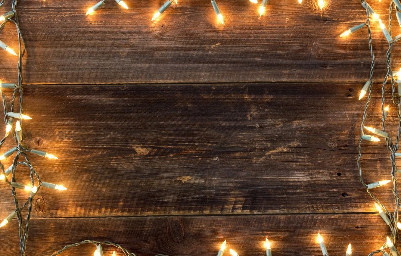 Photo wallpaper decoration, lights, New Year, Christmas, garland, happy, Christmas, wood, New Year, Merry Christmas, Xmas, decoration, …