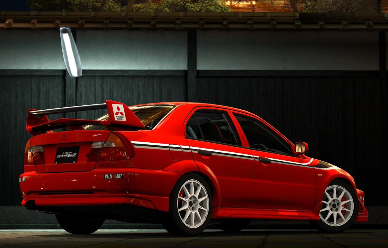 Photo wallpaper Mitsubishi, Evolution, Back, TME, Evo 6